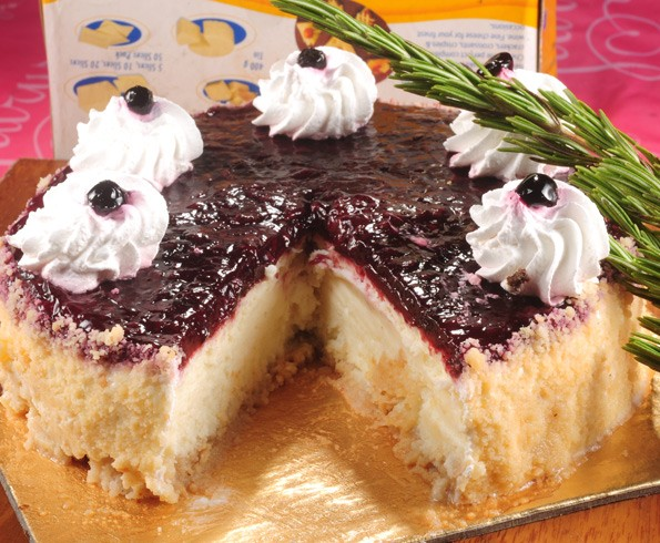 Blueberry Cheese Cake Slice