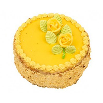Flurys Pineapple Butter Cream Cake ( Eggless )