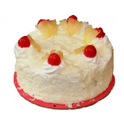 Fresh Cream Pinneaple Cake (Eggless)